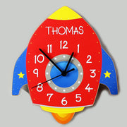 Personalised Rocket Shape Wooden Clock - Shop Personalised Gifts