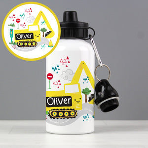 Personalised Digger Drinks Bottle - Shop Personalised Gifts