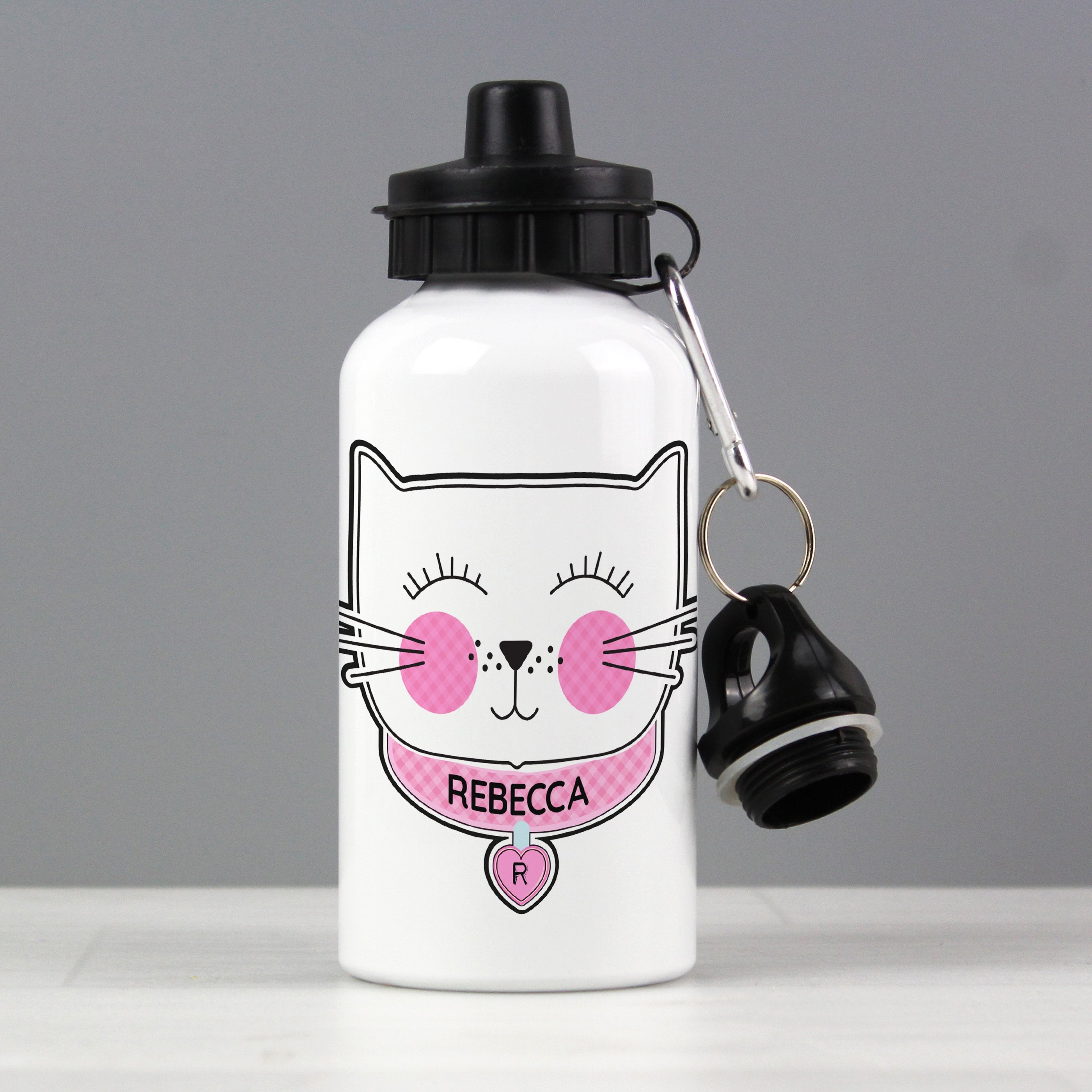 Personalised Cute Cat Drinks Bottle - Shop Personalised Gifts