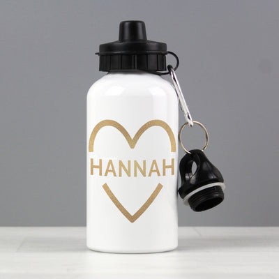 Personalised Gold Heart Drinks Bottle - Personalised Books-Personalised Gifts-Baby Gifts-Kids Books