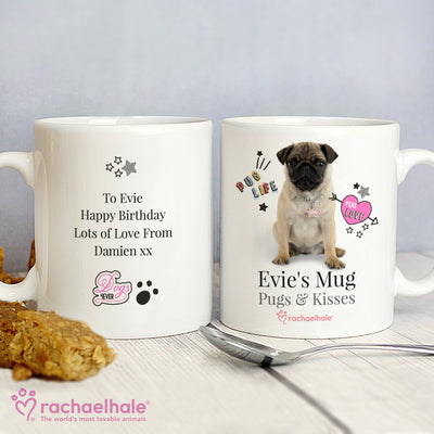 Personalised Rachael Hale Ceramic Doodle Pug Mug - Shop Personalised Gifts