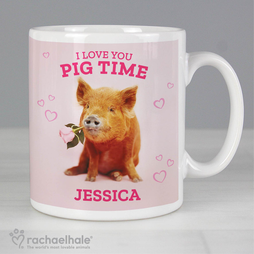 Personalised Rachael Hale Ceramic 'I Love You Pig Time' Mug - Shop Personalised Gifts