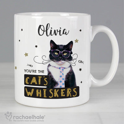 Personalised Rachael Hale Ceramic 'You're the Cat's Whiskers' Mug - Shop Personalised Gifts