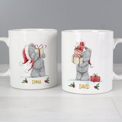 Personalised Me to You Christmas Couple's Ceramic Mug Set - Shop Personalised Gifts