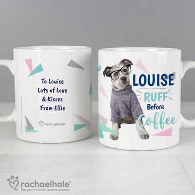 Personalised Rachael Hale Ceramic 'Ruff Before Coffee' Dog Mug - Shop Personalised Gifts