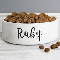 Personalised Any Name 14cm Medium White Pet Bowl - Shop Personalised Gifts