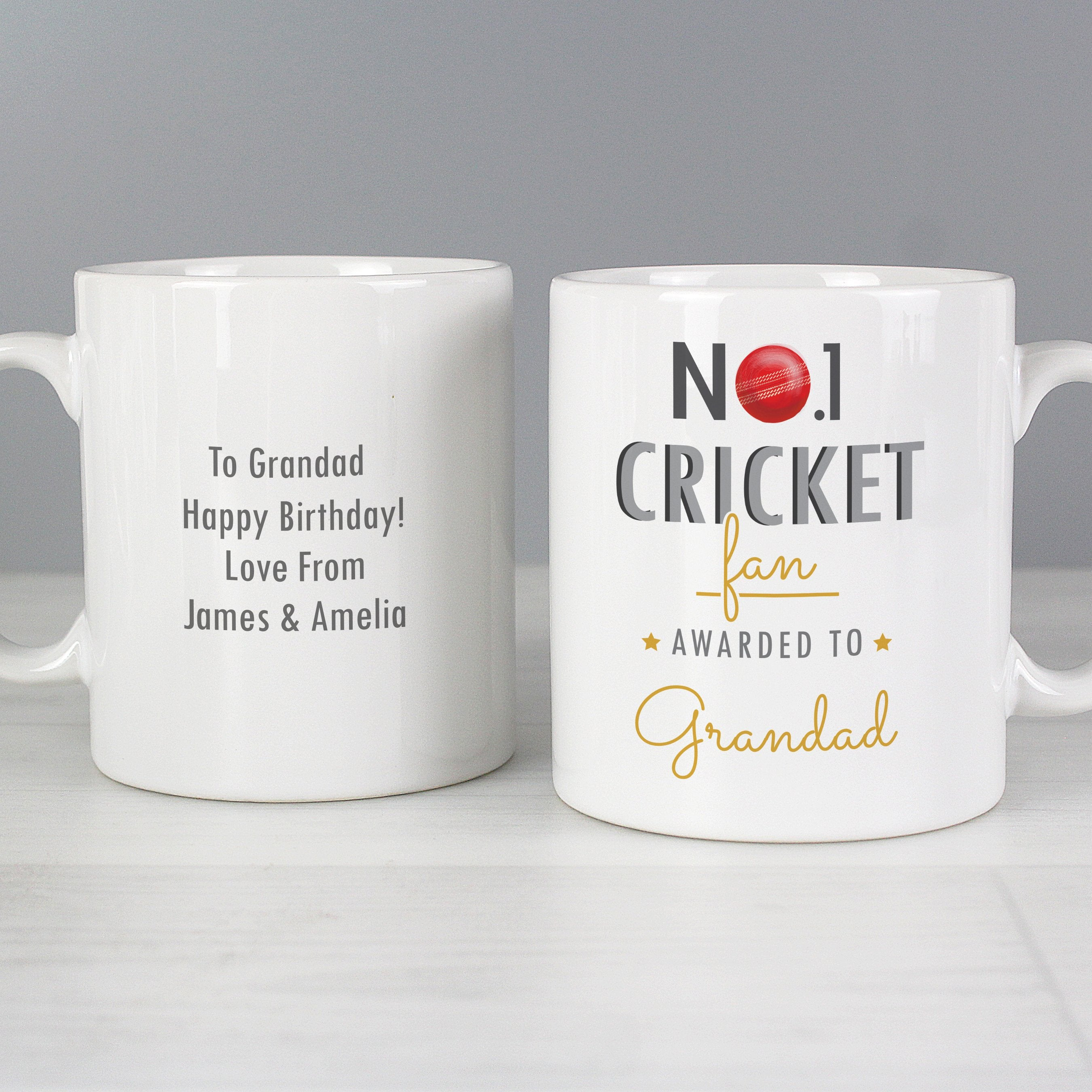 Personalised No.1 Cricket Fan Ceramic Mug - Shop Personalised Gifts