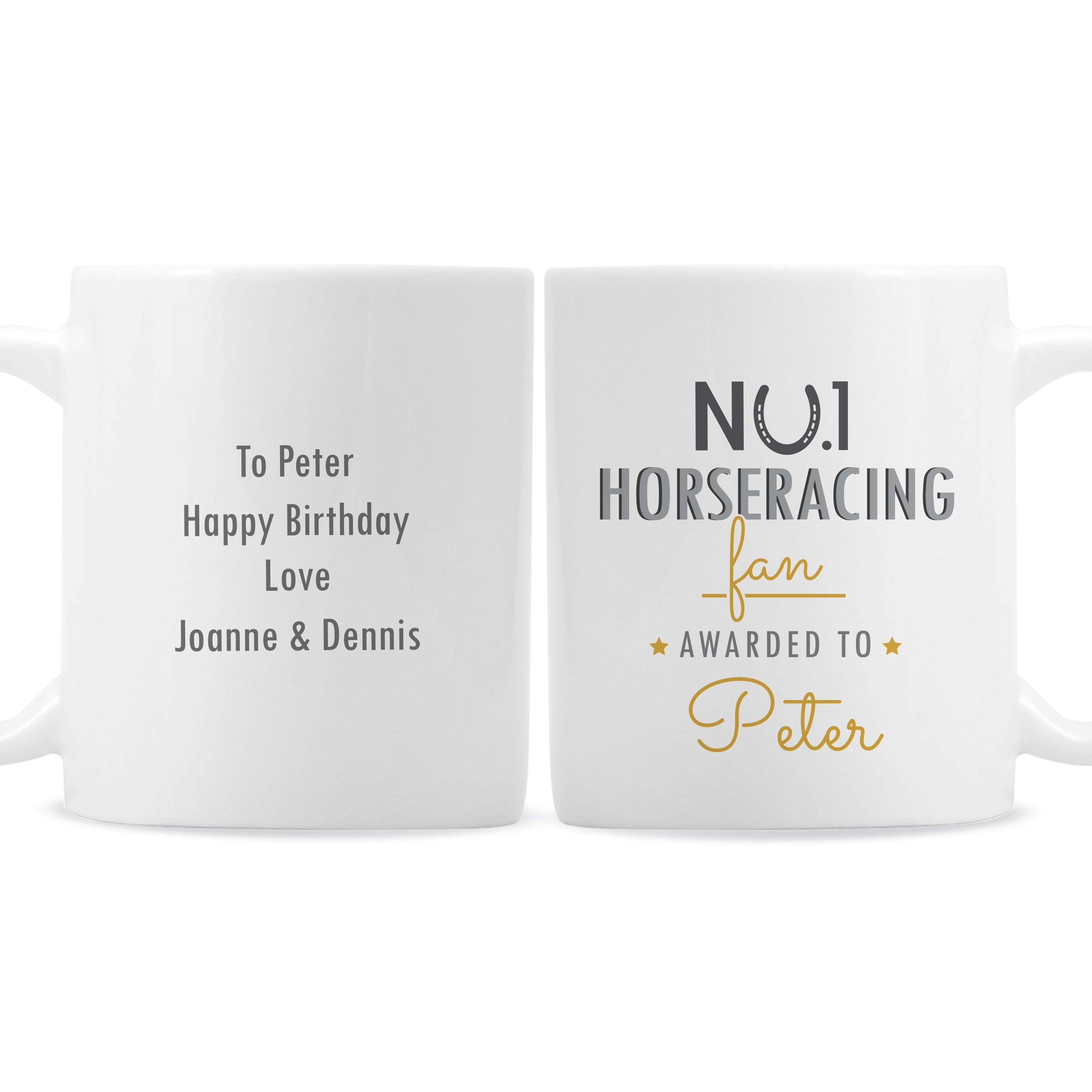 Personalised No.1 Horseracing Fan Ceramic Mug - Shop Personalised Gifts