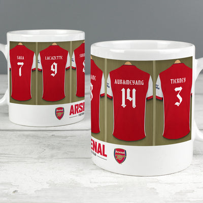 Personalised Arsenal FC Dressing Room Ceramic Mug