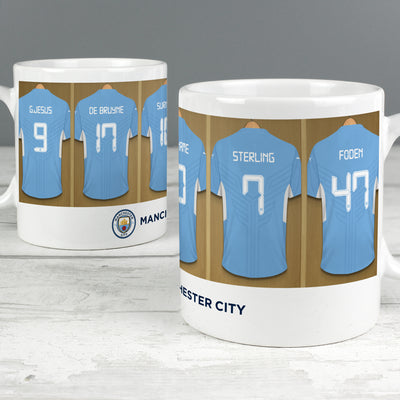 Personalised Manchester City FC Dressing Room Ceramic Mug - Shop Personalised Gifts