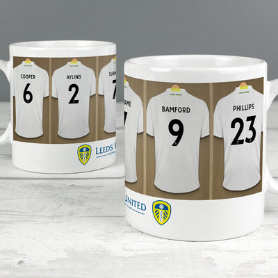Personalised Leeds United FC Dressing Room Ceramic Mug
