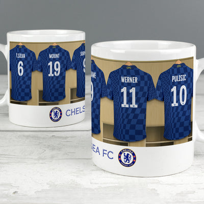 Personalised Chelsea FC Dressing Room Ceramic Mug - Shop Personalised Gifts
