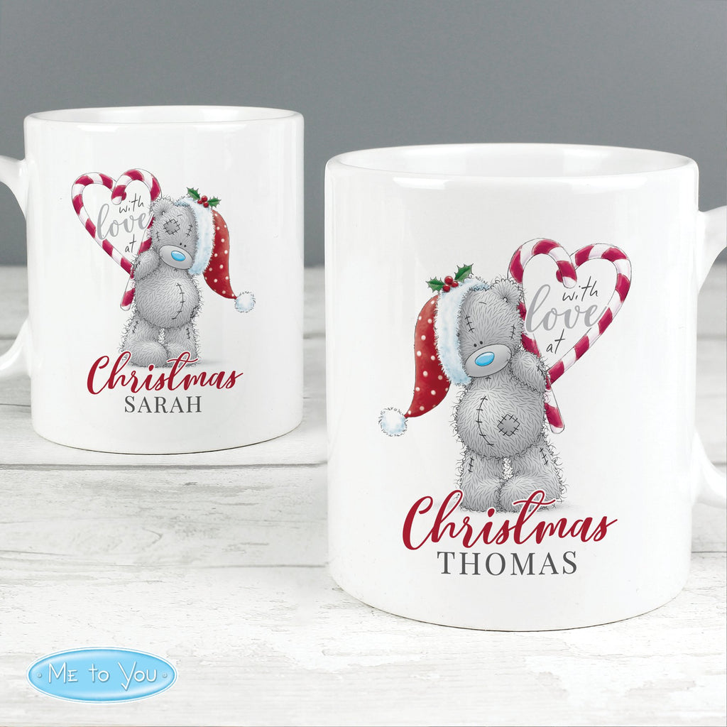 Personalised Me To You 'With Love At Christmas' Couples Ceramic Mug Set - Shop Personalised Gifts