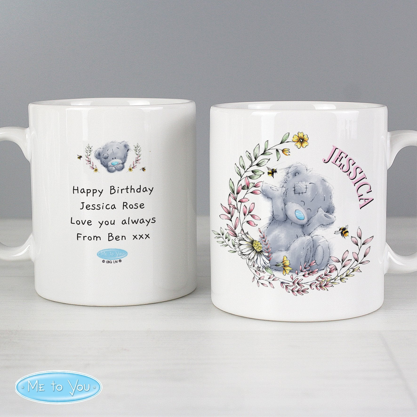 Personalised Me to You Bees Ceramic Mug - Shop Personalised Gifts