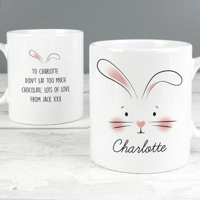 Personalised Easter Bunny Features Ceramic Mug