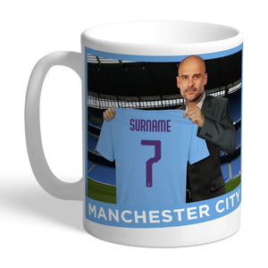 Manchester City FC Manager Ceramic Mug - Shop Personalised Gifts