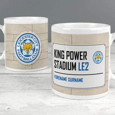Leicester City FC Street Sign Ceramic Mug - Shop Personalised Gifts