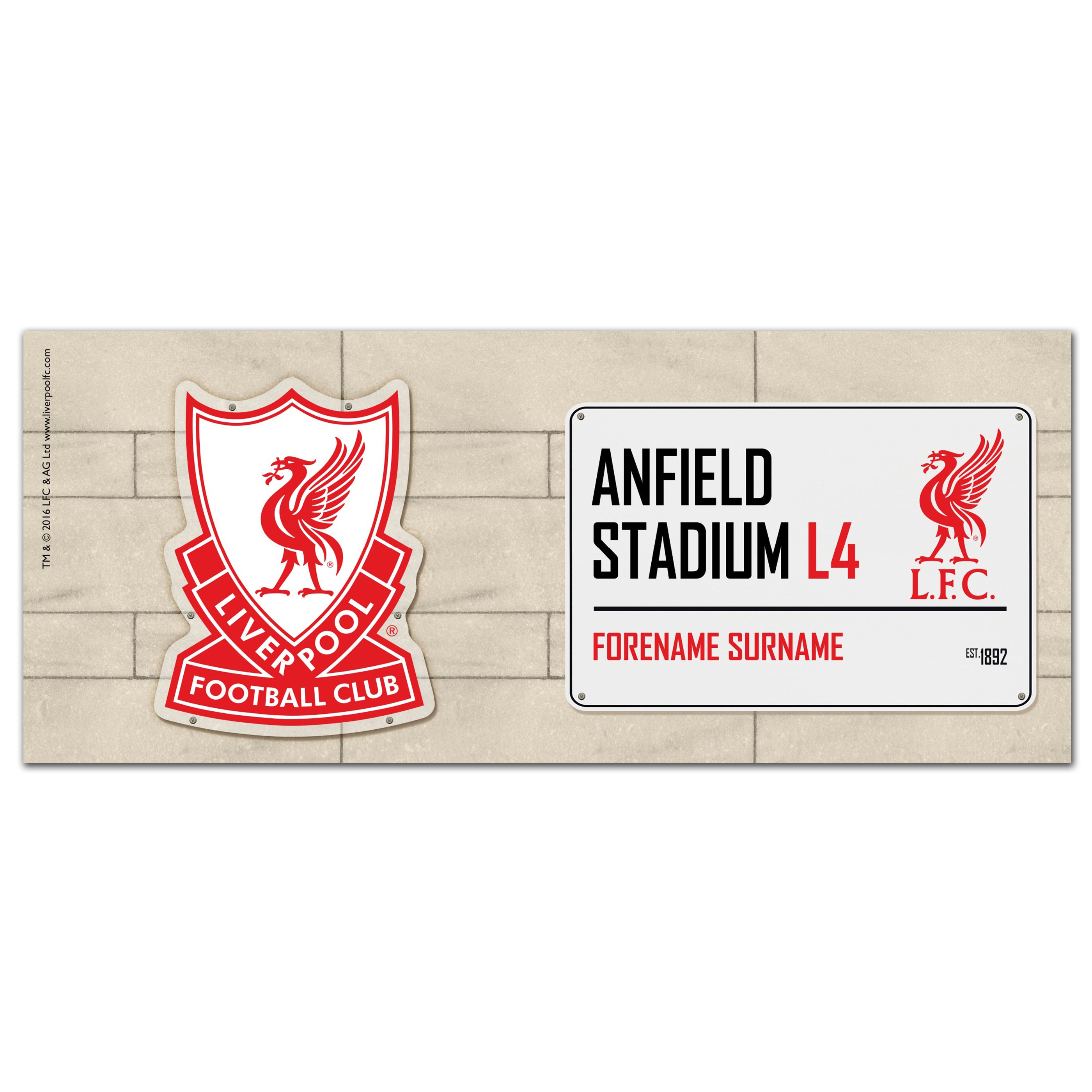 Liverpool FC Street Sign Ceramic Mug - Shop Personalised Gifts (4616565620822)