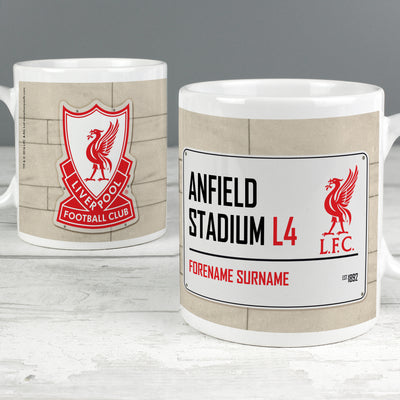 Liverpool FC Street Sign Ceramic Mug - Shop Personalised Gifts