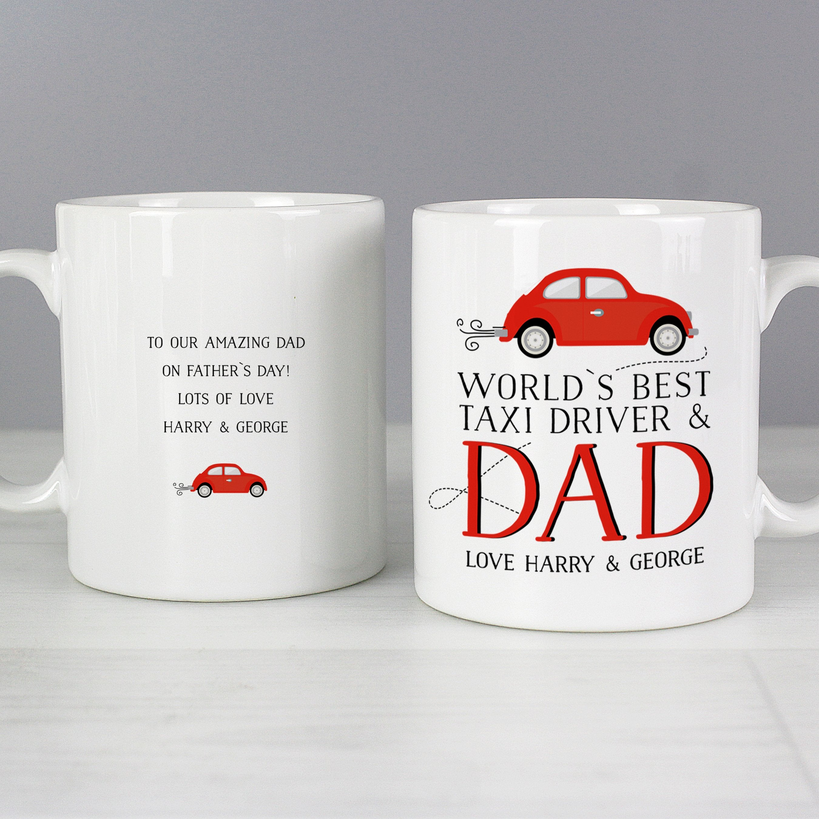 Personalised Worlds Best Taxi Driver Dad Ceramic Mug - Shop Personalised Gifts (4630084223062)