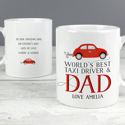 Personalised Worlds Best Taxi Driver Dad Ceramic Mug - Personalised Books-Personalised Gifts-Baby Gifts-Kids Books