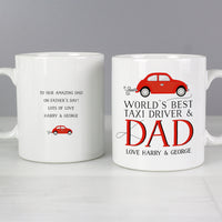 Personalised Worlds Best Taxi Driver Dad Ceramic Mug - Shop Personalised Gifts