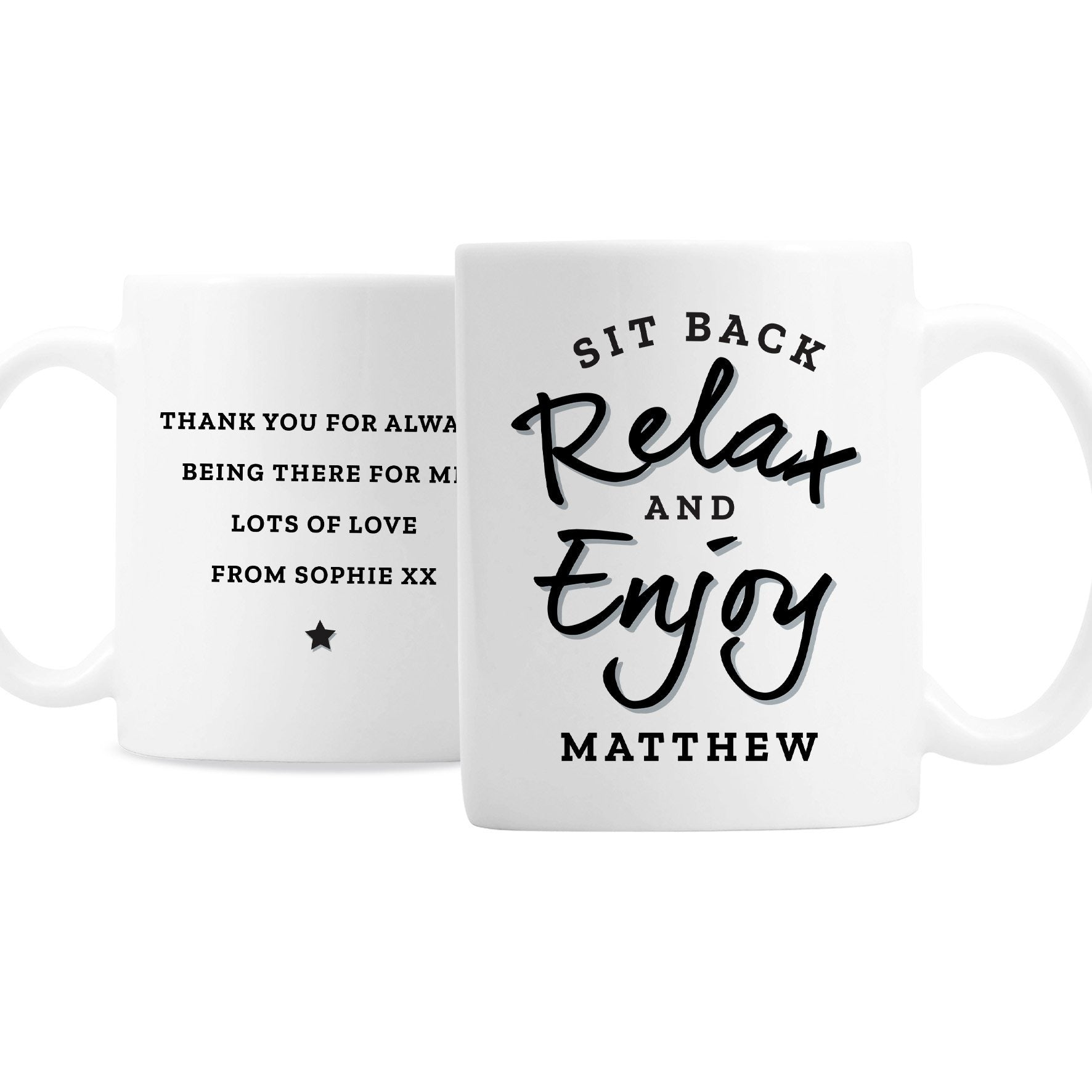Personalised Sit Back & Relax Ceramic Mug - Shop Personalised Gifts