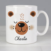 Personalised Cute Bear Face Ceramic Mug
