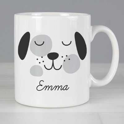 Personalised Cute Dog Face Ceramic Mug