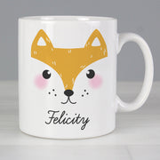 Personalised Cute Fox Face Ceramic Mug