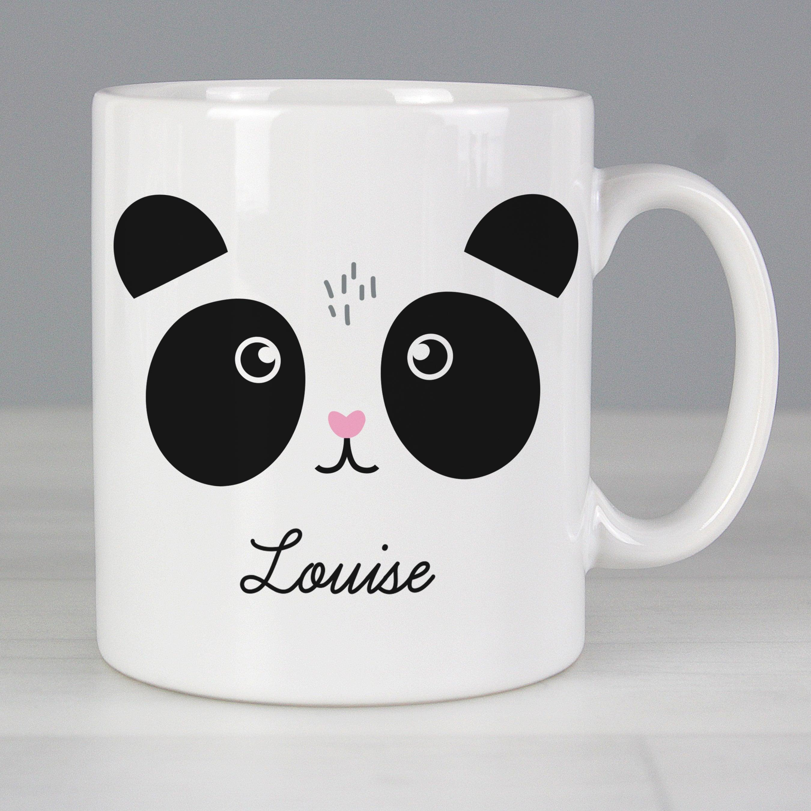 Personalised Cute Panda Face Ceramic Mug