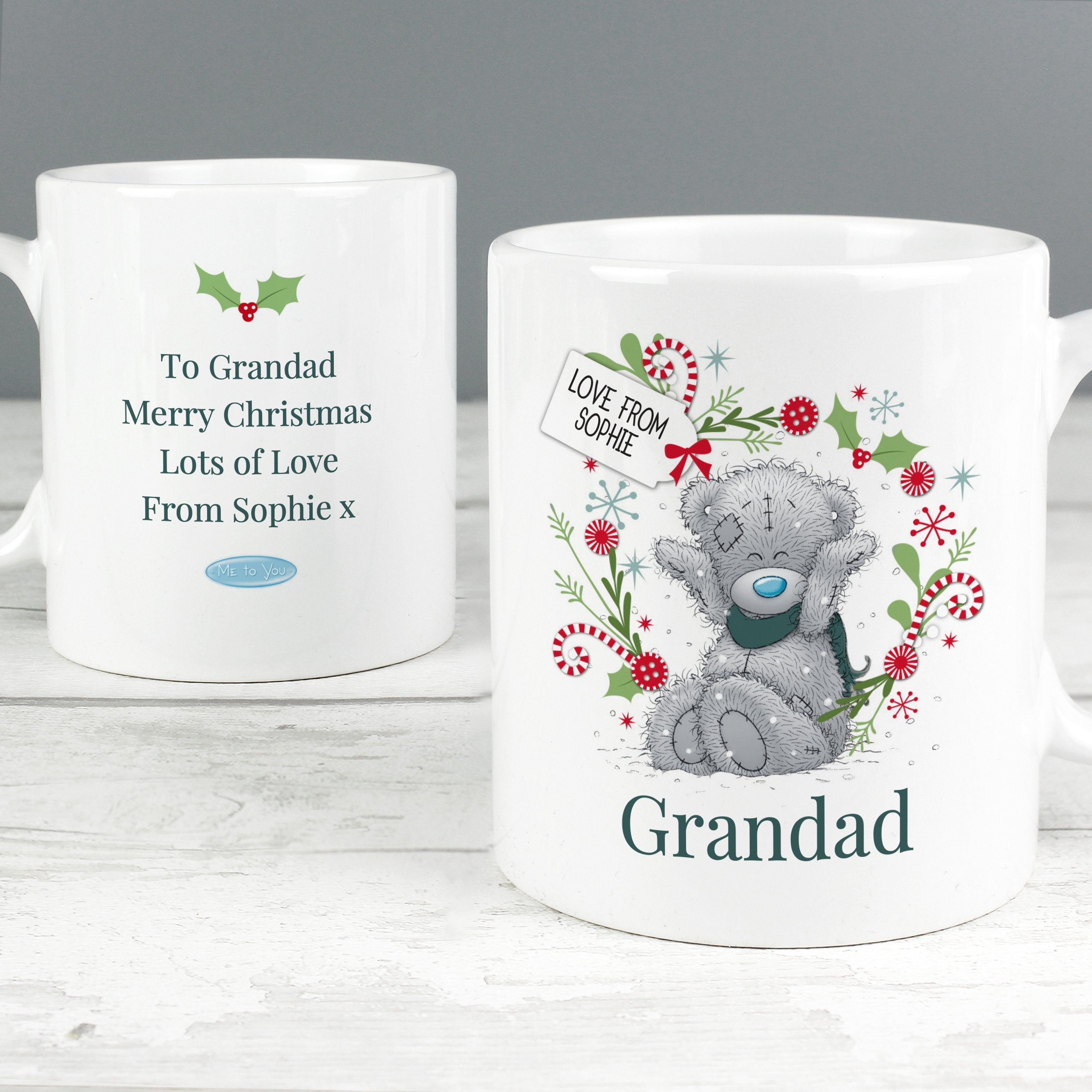 Personalised Me to You 'For, Grandad, Dad' Christmas Ceramic Mug - Shop Personalised Gifts