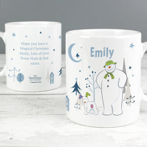 Personalised The Snowman and the Snowdog Ceramic Mug - Shop Personalised Gifts
