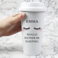 Personalised Eyelashes Double Walled Travel Mug - Shop Personalised Gifts