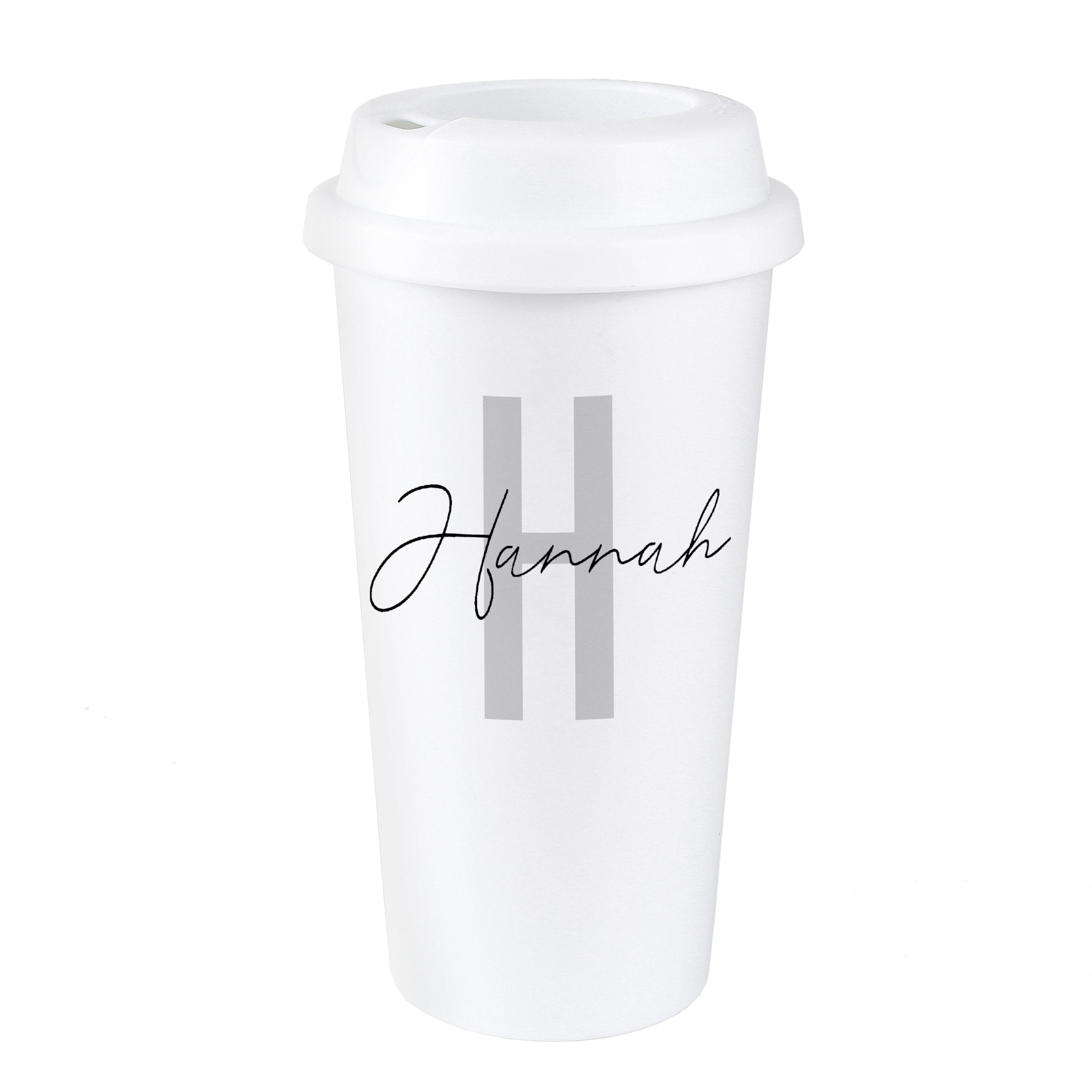 Personalised Initial & Name Double Walled Travel Mug - Shop Personalised Gifts (4873212297302)