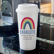 Personalised Rainbow Double walled Travel Mug - Shop Personalised Gifts