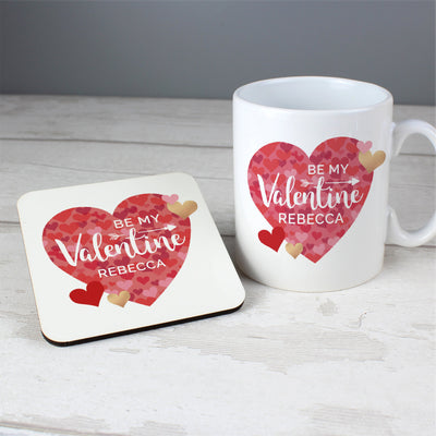 Personalised Valentine's Day Ceramic Confetti Hearts Mug & Coaster Set - Personalised Books-Personalised Gifts-Baby Gifts-Kids Books