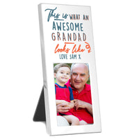 Personalised This Is What Awesome Looks Like Silver 3x2 Photo Frame - Shop Personalised Gifts