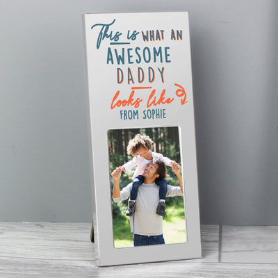Personalised This Is What Awesome Looks Like Silver 3x2 Photo Frame