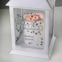 Personalised Silver Reindeer White Lantern - Personalised Books-Personalised Gifts-Baby Gifts-Kids Books