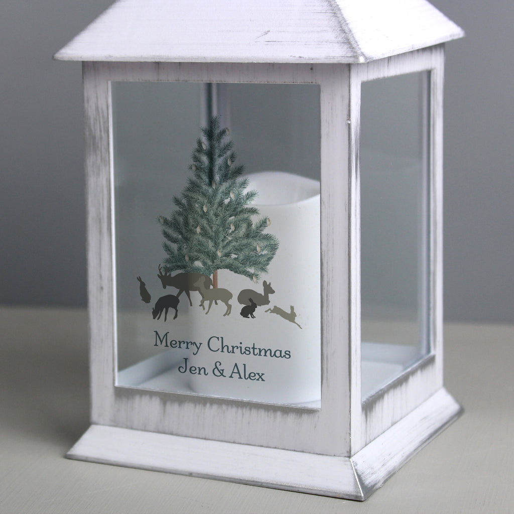 Personalised A Winter's Night White Lantern - Personalised Books-Personalised Gifts-Baby Gifts-Kids Books