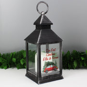 Personalised 'Driving Home For Christmas' Black Lantern - Shop Personalised Gifts
