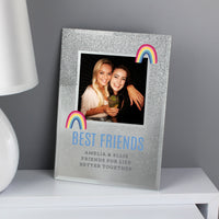 Personalised Rainbow 4x4 Glitter Glass Photo Frame - Personalised Books-Personalised Gifts-Baby Gifts-Kids Books