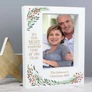 Personalised 'Wonderful Time of The Year Christmas' 7x5 Box Photo Frame - shop-personalised-gifts