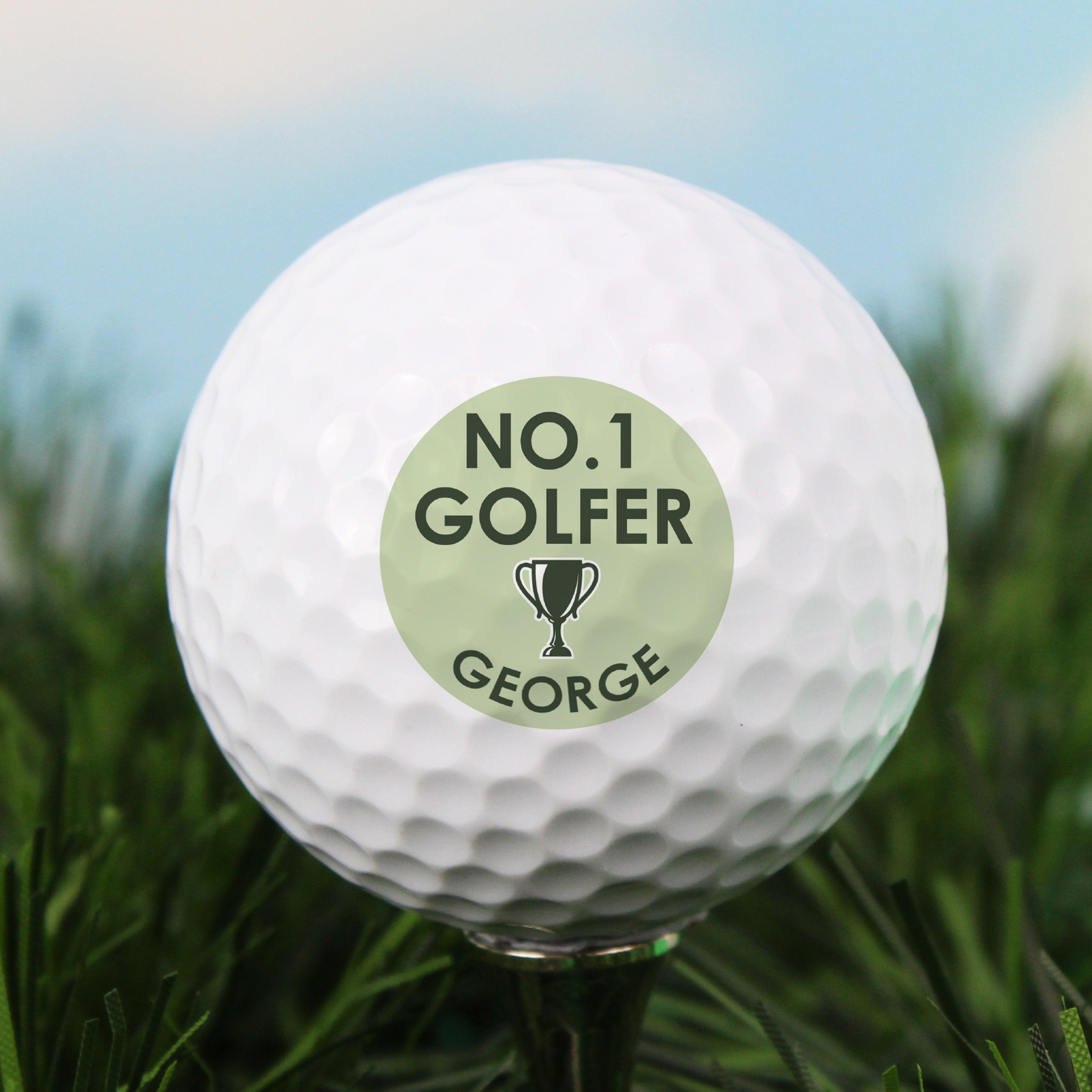 Personalised No.1 Golfer Golf Ball