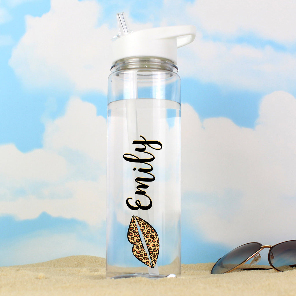 Personalised Leopard Lips Island Water Drinks Bottle - Personalised Books-Personalised Gifts-Baby Gifts-Kids Books