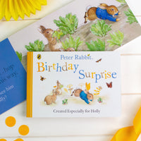 Personalised Peter Rabbit 'Birthday Surprise' Board Book - Shop Personalised Gifts