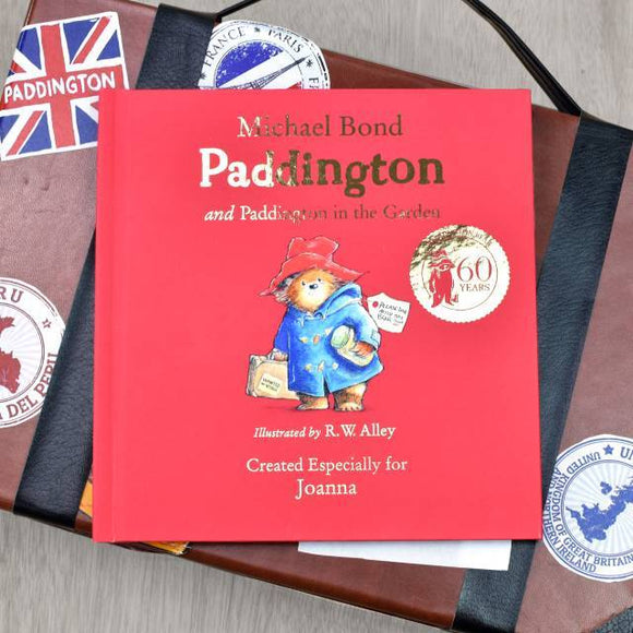 Personalised 60th Anniversary Paddington Bear Book - Two Stories - shop-personalised-gifts