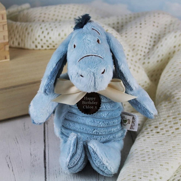Personalised Classic Eeyore Soft Toy Donkey - shop-personalised-gifts
