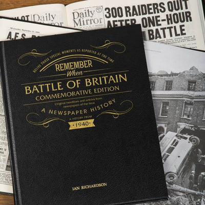 Battle of Britain 80th Anniversary Pictorial Edition Newspaper Book - Personalised Books-Personalised Gifts-Baby Gifts-Kids Books